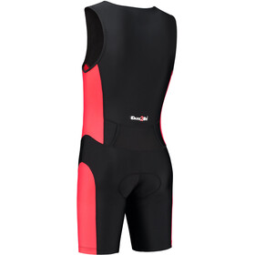 Dare2Tri Frontzip Trisuit Heren, black-red